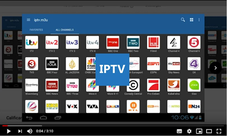 Las listas m3u para IPTV